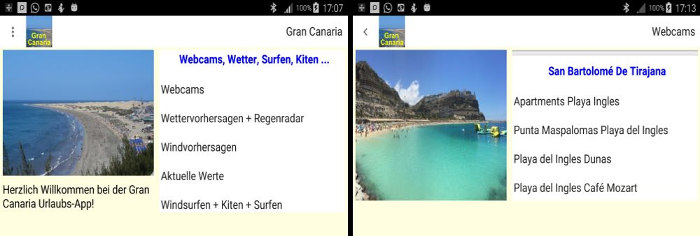Gran Canaria App Screenshot