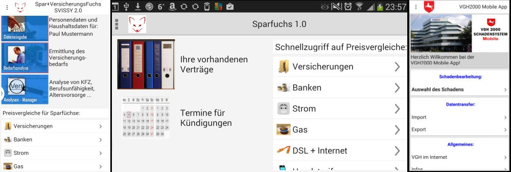 Versicherungs-App Screenshot