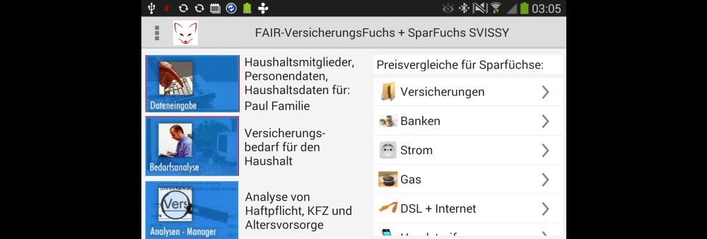 Fair Versicherungs Fuchs SVISSY Screenshot